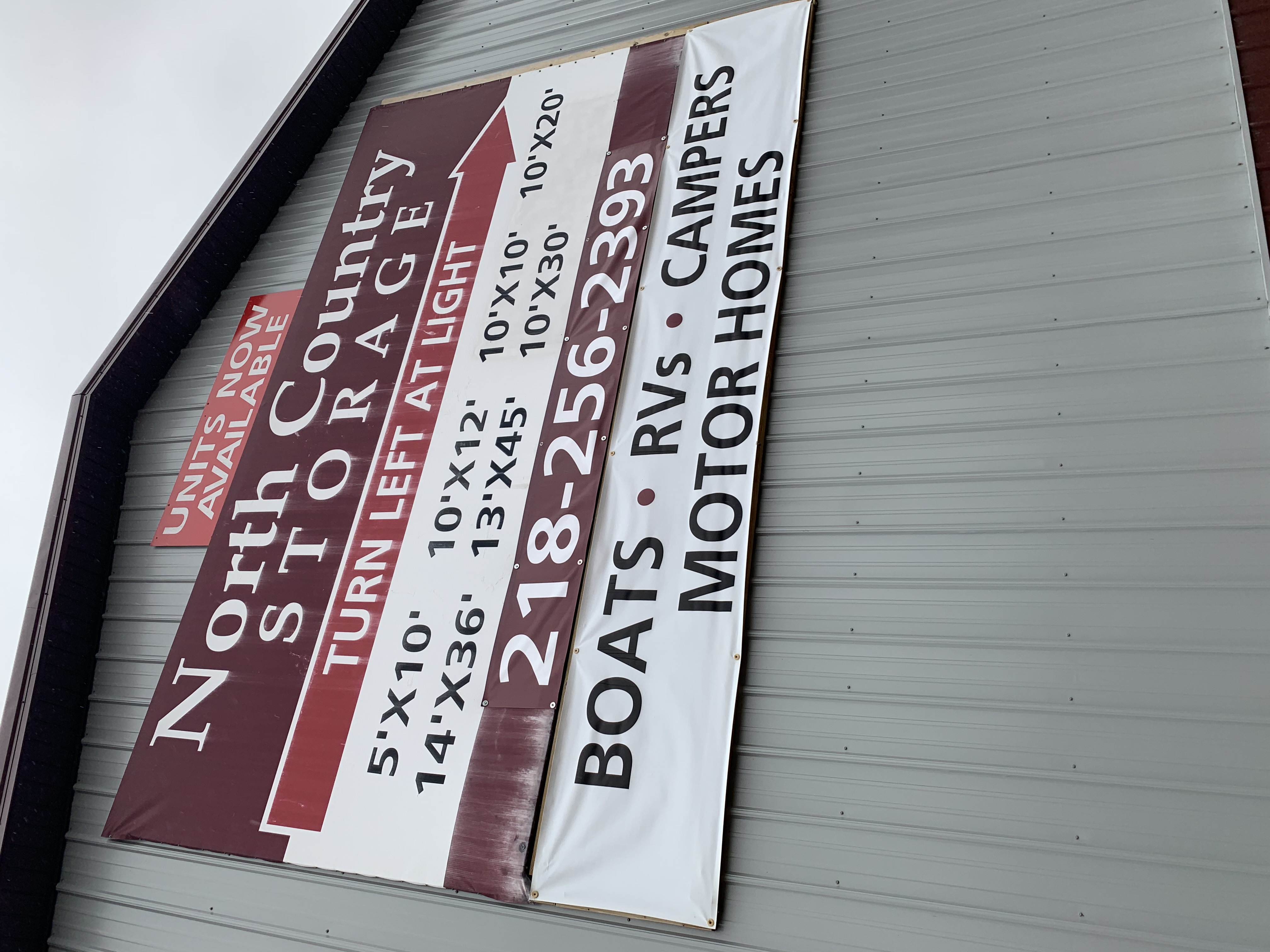 nc-sign & North Country Storage | Affordable Newly Built Storage Units ...